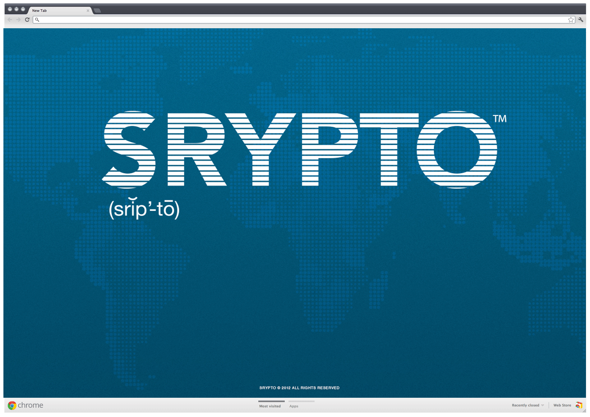 Srypto website landing page